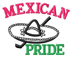 Mexican Pride embroidery design