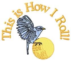 Birdie Golf Roll embroidery design