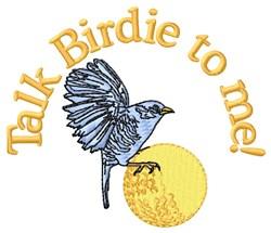 Birdie Talk In Golf embroidery design