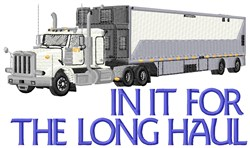 Long Cargo Haul embroidery design