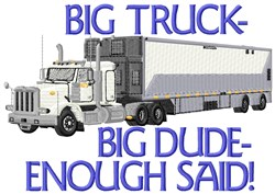 Big Truck Dude embroidery design