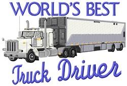 Cargo Truck Driver embroidery design