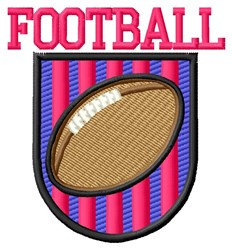 Football embroidery design