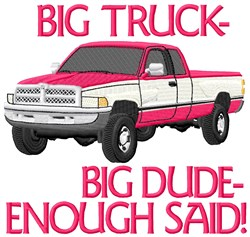 Big Truck For Dude embroidery design