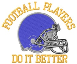 Football Players Helmet embroidery design