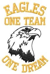 Eagle Team Motto embroidery design