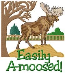 Moose Amuse embroidery design