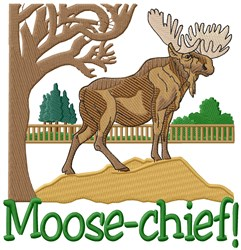 Moose Chief embroidery design
