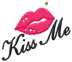 Kiss Me Lipstick embroidery design