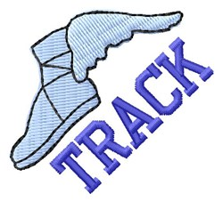 Track Speed Shoe embroidery design
