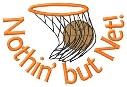 Hoop Net And Basketball embroidery design