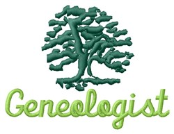 Geneologist And Trees embroidery design