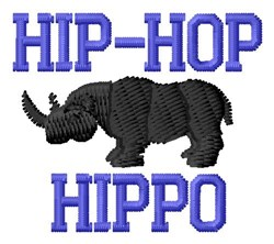 Hip Hop With Hippo embroidery design