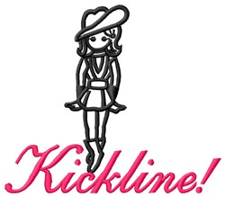 Cowgirl Kickline embroidery design