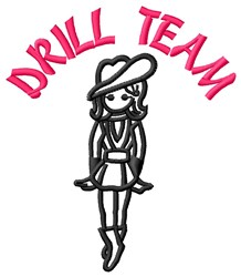 Cowgirl Drill Team embroidery design