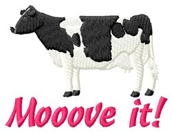 Dont Cow Around embroidery design