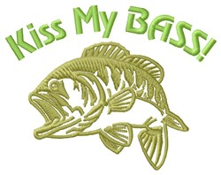 Kiss Fish Bass embroidery design