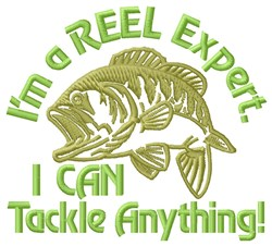 Reel Expert Fish embroidery design