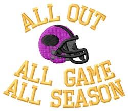 Football Season embroidery design