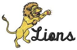 Detroit Lions embroidery design