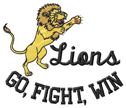Lions Win embroidery design