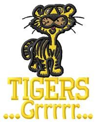 Tigers Grrrr embroidery design