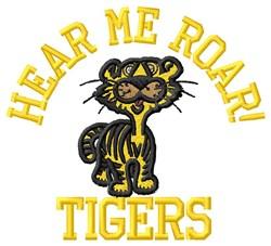 Hear Me Roar embroidery design