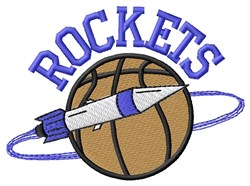 Basketball Rocket embroidery design