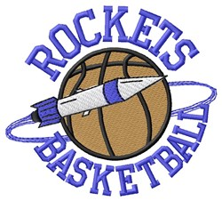 Rockets Basketball embroidery design
