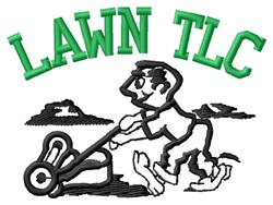Lawn Man TLC embroidery design