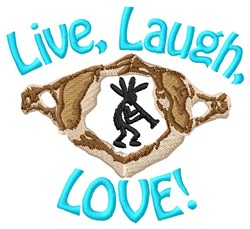 Live Laugh Love embroidery design