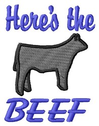 Beef Here embroidery design