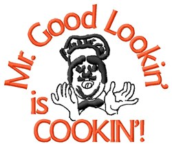 Good Looking Chef Cooking embroidery design