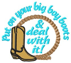 Big Cowboy Boots embroidery design