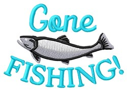 Gone With Fish embroidery design