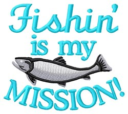 Fishing Mission embroidery design