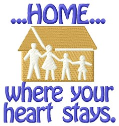 Heart Stays Home embroidery design