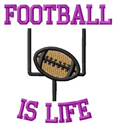 Life Full Of Football embroidery design