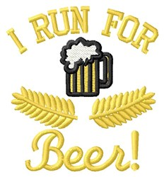 Run For Beer embroidery design