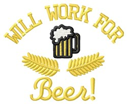 Work For Beer embroidery design