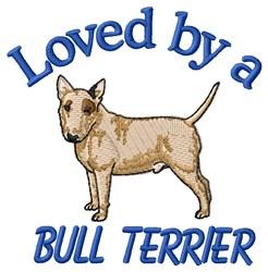 Bull Terrier Love embroidery design