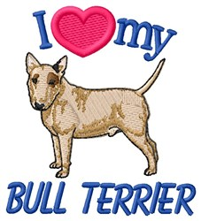 Love Bull Terrier embroidery design