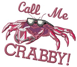 Crabby embroidery design