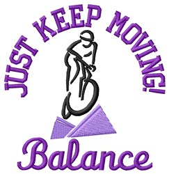 Cycle Balance embroidery design