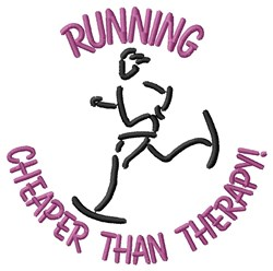 Running Is Beat embroidery design