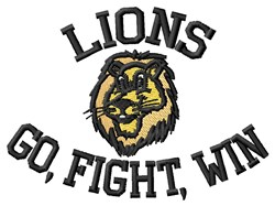 Raging Lions embroidery design