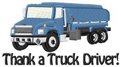 Gratitude To Truck Driver embroidery design