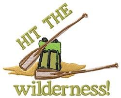 Canoe Wilderness embroidery design