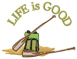 Canoe Life embroidery design