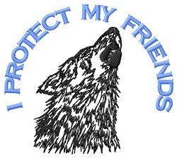 Friendship Of Wolf embroidery design